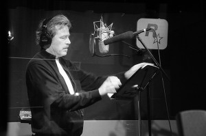 James McCaffrey voicing dialogue at Rockstar NYC recording studio.