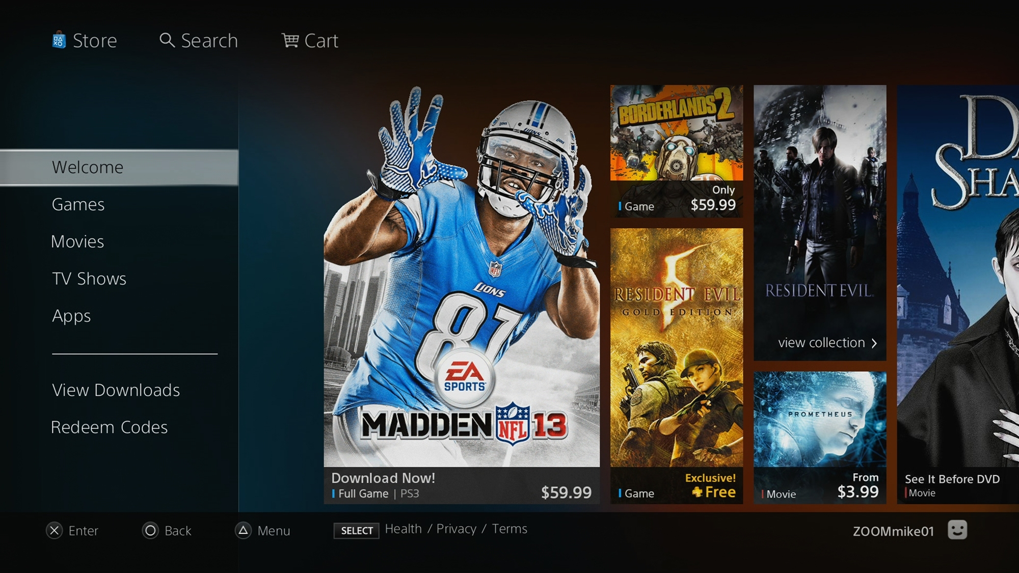 psn store layout