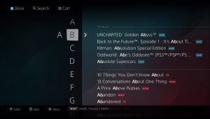 psn search feature